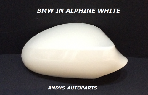 BMW 3 SERIES E90/91 2005 - 2008 WING MIRROR COVER L/H OR R/H IN ALPHINE WHITE